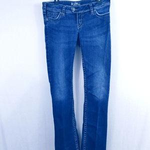 Silver Suki Womens Denim Jeans Thick Stitch 16.5